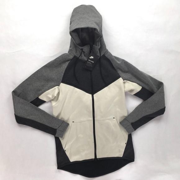 Nike Shirts Nike Tech Fleece Windrunner Hoodie White Grey Poshmark